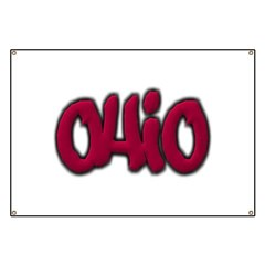 Ohio State Graffiti Style Lettering Banner