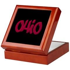 Ohio State Graffiti Style Lettering Keepsake Box