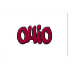 Ohio State Graffiti Style Lettering Large Poster