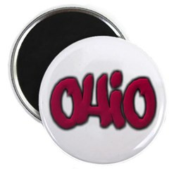 Ohio State Graffiti Style Lettering Magnet