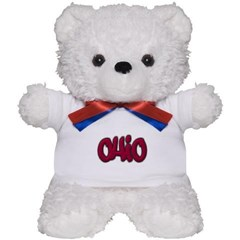 Ohio State Graffiti Style Lettering Teddy Bear