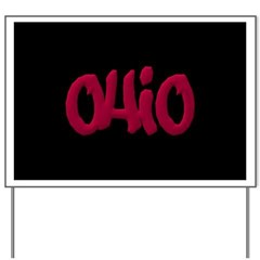 Ohio State Graffiti Style Lettering Yard Sign