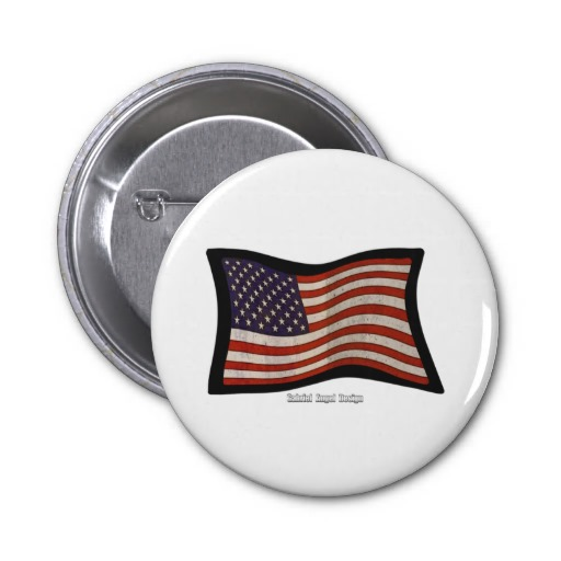US Flag Graffiti Pinback Buttons