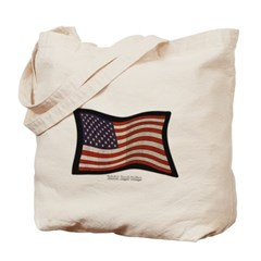 USA Flag Graffiti Canvas Tote Bag