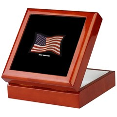 USA Flag Graffiti Keepsake Box