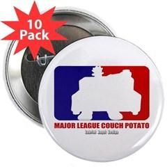 """Major League Couch Potato 2.25"""" Button (10 pack)"""