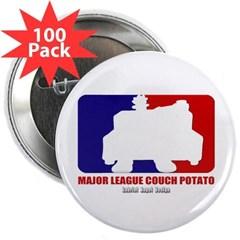 """Major League Couch Potato 2.25"""" Button (100 pack)"""