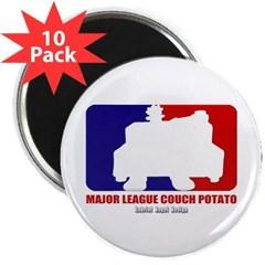 """Major League Couch Potato 2.25"""" Magnet (10 pack)"""