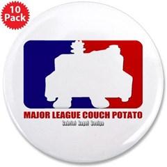 """Major League Couch Potato 3.5"""" Button (10 pack)"""