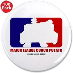 """Major League Couch Potato 3.5"""" Button (100 pack)"""