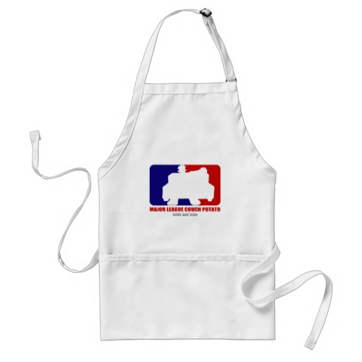 Major League Couch Potato Adult Apron