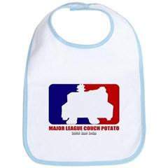 Major League Couch Potato Baby Bib