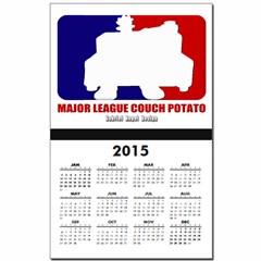 Major League Couch Potato Calendar Print