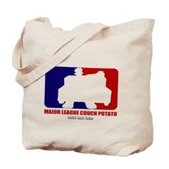 Major League Couch Potato Canvas Tote Bag