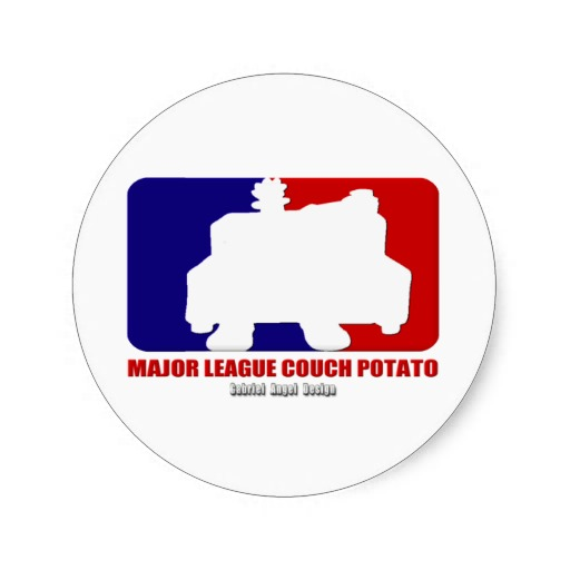 Major League Couch Potato Classic Round Sticker
