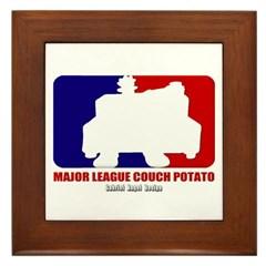 Major League Couch Potato Framed Tile