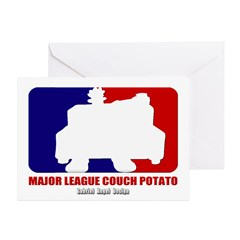 Major League Couch Potato Greeting Cards Pk of 10