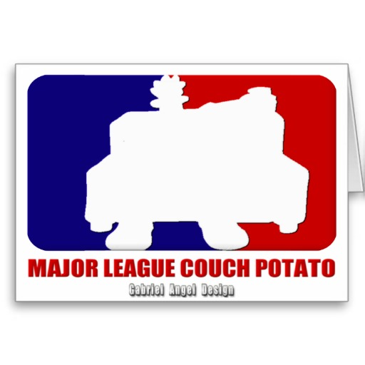 Major League Couch Potato Greeting Card