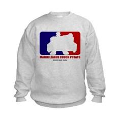 Major League Couch Potato Kids Crewneck Sweatshirt by Hanes