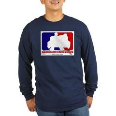 Major League Couch Potato Long Sleeve Dark T-Shirt