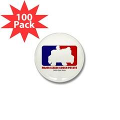 Major League Couch Potato Mini Button (100 pack)