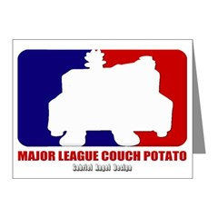 Major League Couch Potato Note Cards (Pk of 10)