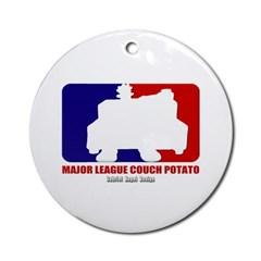 Major League Couch Potato Ornament (Round)