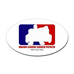 Major League Couch Potato Oval Decal