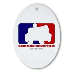 Major League Couch Potato Oval Ornament