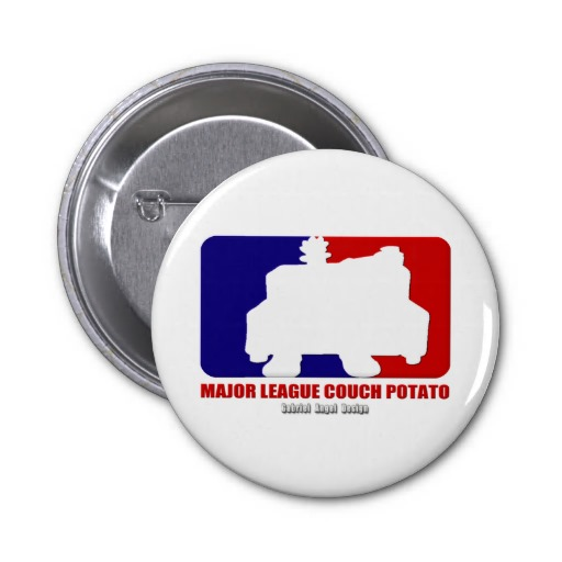 Major League Couch Potato Pin