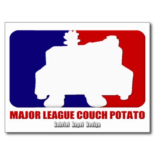 Major League Couch Potato Postcard