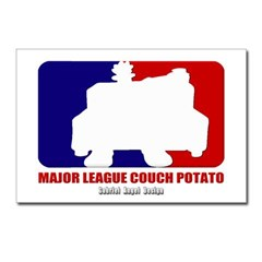 Major League Couch Potato Postcards (Package of 8)