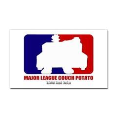 Major League Couch Potato Rectangle Decal