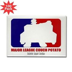 Major League Couch Potato Rectangle Magnet (100 Pack)