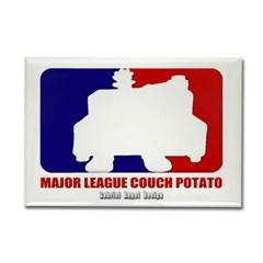 Major League Couch Potato Rectangle Magnet