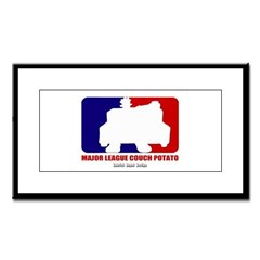 Major League Couch Potato Small Framed Print