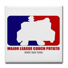 Major League Couch Potato Tile Coaster