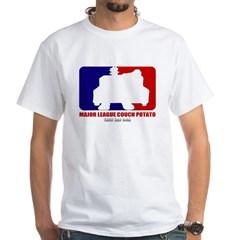 Major League Couch Potato White T-Shirt