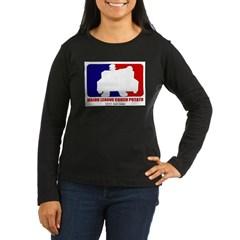 Major League Couch Potato Women's Long Sleeve Dark T-Shirt
