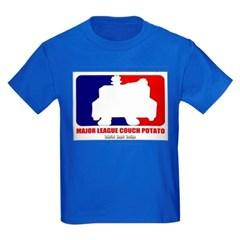 Major League Couch Potato Youth Dark T-Shirt by Hanes