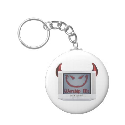 Devil TV Basic Button Keychain