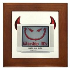 Devil TV Framed Tile