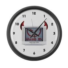 Devil TV Large Wall Clock