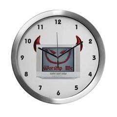 Devil TV Modern Wall Clock