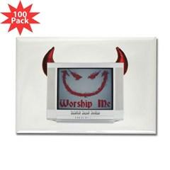 Devil TV Rectangle Magnet (100 pack)