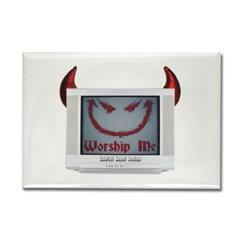 Devil TV Rectangle Magnet