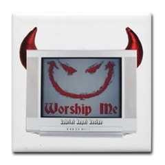 Devil TV Tile Coaster
