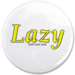 "Lazy Logo 3.5"" Button"