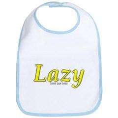 Lazy Logo Baby Bib