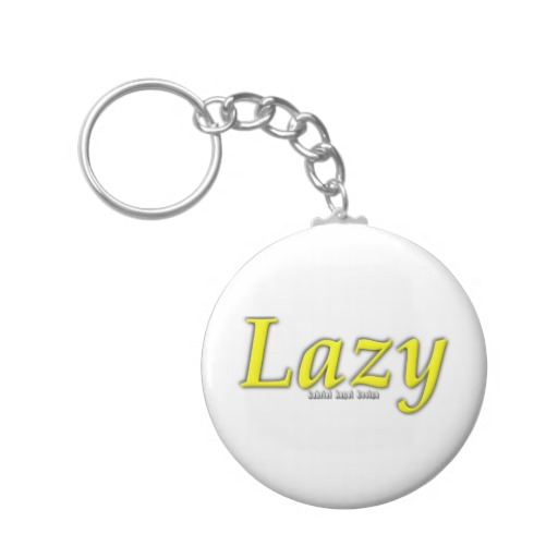 Lazy Logo Basic Button Keychain
